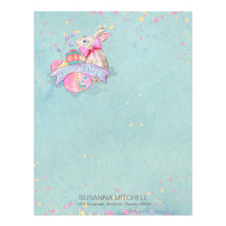 Easter Bunny, Eggs and Confetti ID377 Letterhead