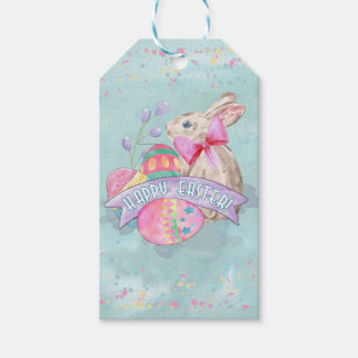 Easter Bunny, Eggs and Confetti ID377 Pack Of Gift Tags