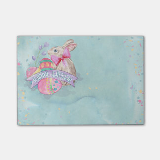 Easter Bunny, Eggs and Confetti ID377 Post-it® Notes