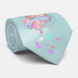 Easter Bunny, Eggs and Confetti ID377 Tie