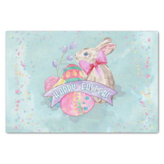 Easter Bunny, Eggs and Confetti ID377 Tissue Paper