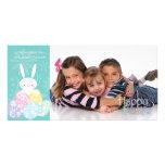 Easter Bunny & Eggs Photo Card