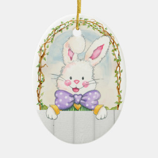 Easter Bunny Eggs - SRF Ceramic Ornament