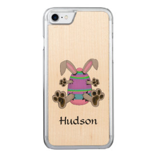 Easter Bunny Escapes from Colourful Easter Egg Carved iPhone 7 Case