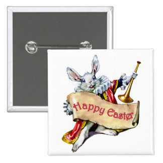 EASTER BUNNY EXTENDS HAPPY EASTER GREETINGS PINBACK BUTTONS