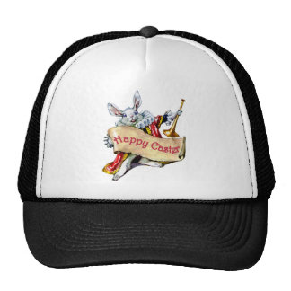 EASTER BUNNY EXTENDS HAPPY EASTER GREETINGS TRUCKER HAT