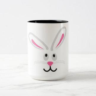 Easter Bunny Face Two-Tone Coffee Mug