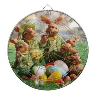 Easter bunny family dartboard