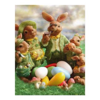 Easter bunny family letterhead