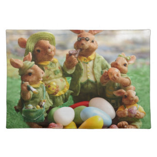Easter bunny family placemat