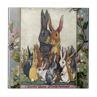 Easter Bunny Family Portrait Tile