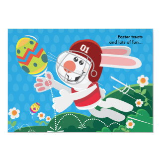 Easter Bunny Football Birthday Invitation