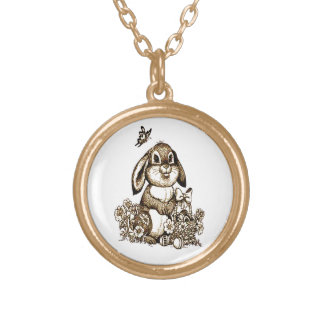 Easter Bunny Gold Plated Necklace