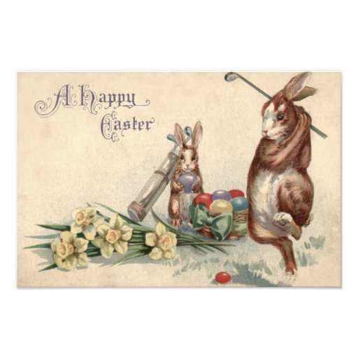 Easter Bunny Golf Colored Painted Egg Daffodil Photo