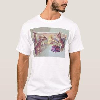 Easter Bunny Gramophone Phonograph T-Shirt