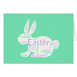 Easter Bunny, green Note Card