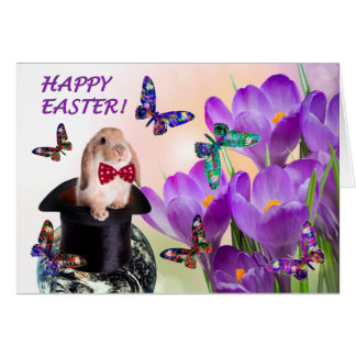 "Easter Bunny ""Happy Easter"" greeting card"
