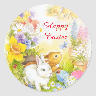 Easter bunny happy Easter sticker