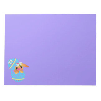 Easter Bunny Hatching From a Decorated Egg Notepad