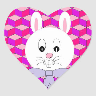 Easter Bunny Heart Sticker