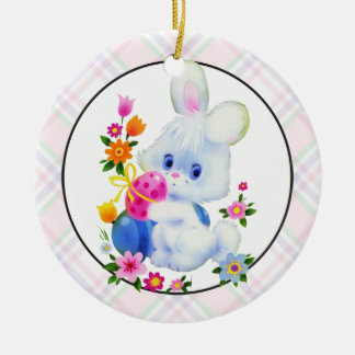 Easter Bunny Holiday cartoon ornament