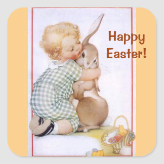Easter Bunny Hug Sticker