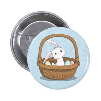 Easter Bunny in a Basket 2 Inch Round Button