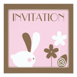 Easter Bunny Invitation Card