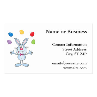 Easter Bunny Juggling Eggs Pack Of Standard Business Cards