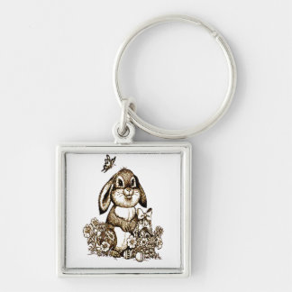 Easter Bunny Keychain
