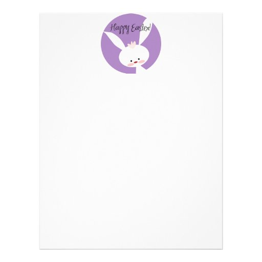 Easter Bunny Letterhead Template | Zazzle