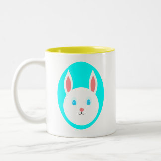 Easter Bunny Mug with Blue Accent