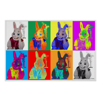 Easter Bunny Mural Poster