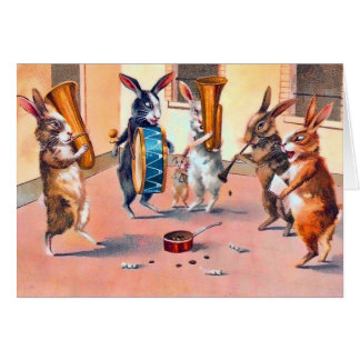 Easter Bunny Musicians Card
