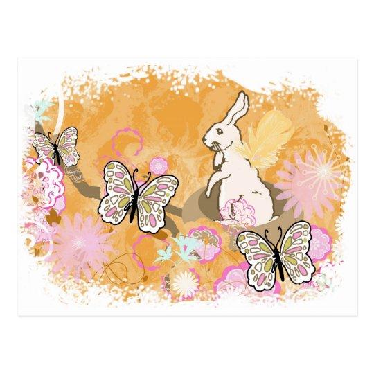 Easter Bunny Nest Postcard