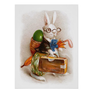 Easter Bunny on Tour Poster