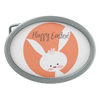 Easter Bunny Oval Belt Buckles