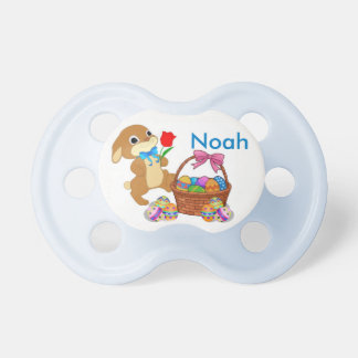 Easter Bunny Pacifier Baby's NAME BOY