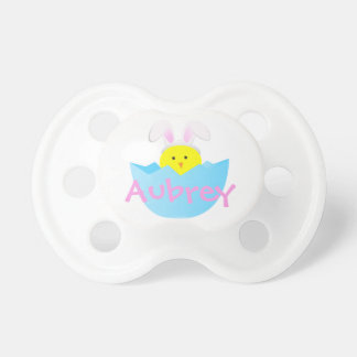 Easter Bunny Pacifier w Chick for Babys 1st Easter