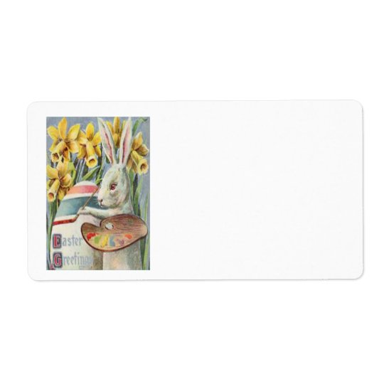 Easter Bunny Painting Painted Coloured Egg Shipping Label