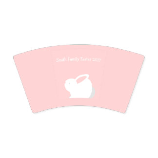 Easter Bunny Paper Pink Paper Plates w/ Your Name Paper Cup