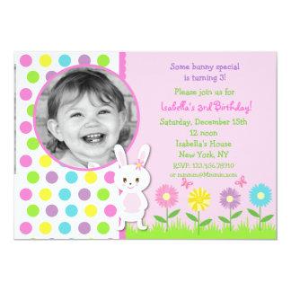 Easter Bunny Photo Birthday Invitations