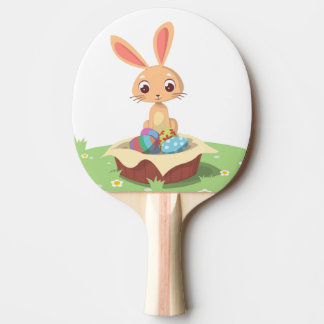 EASTER BUNNY PING PONG PADDLE