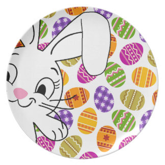 Easter bunny plate