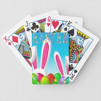Easter bunny poker deck