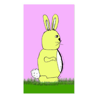 Easter bunny rabbit business card