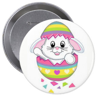 Easter Bunny Rabbit Button Pin On Spring Adorable