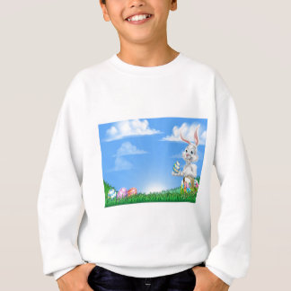 Easter Bunny Rabbit Egg Hunt Background Sweatshirt