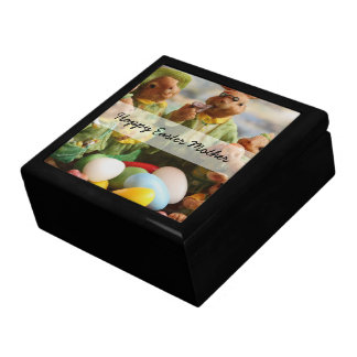 Easter Bunny Rabbit family and eggs Gift Box