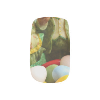 Easter Bunny Rabbit family and eggs Nail Stickers